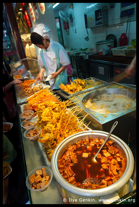 Street food stall, Shanghai, China