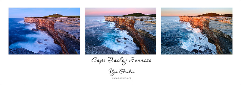 Sunrise at Cape Bailey, Kurnell Peninsula, Botany Bay National Park, Sydney, NSW, Australia