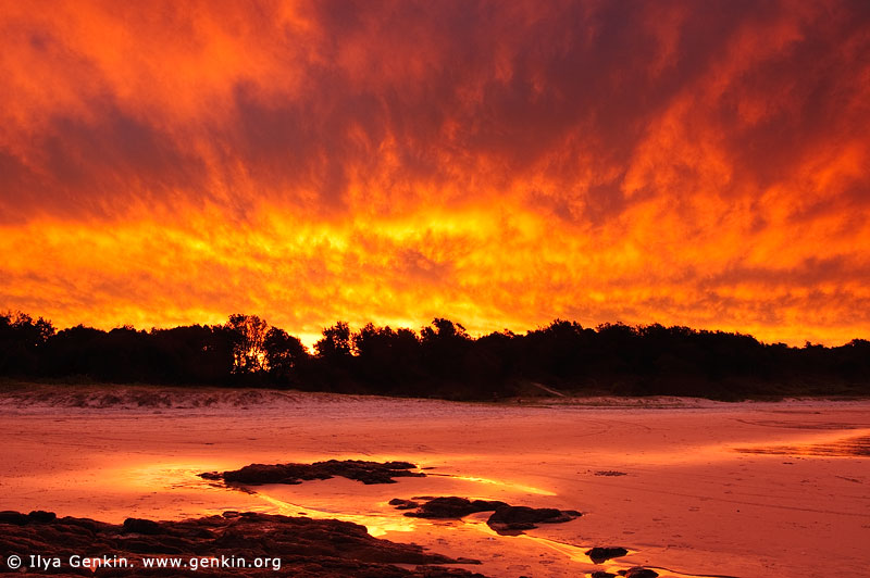 Stunning Sunset at Dunbogan Beach, Crowdy Bay National Park, NSW, Australia