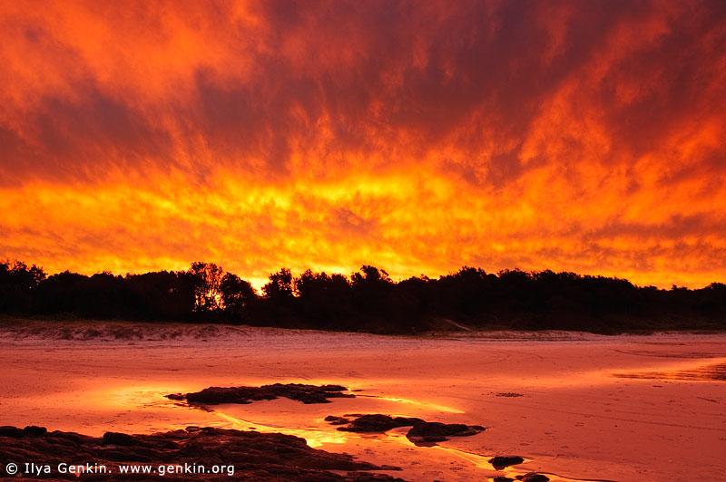 Stunning Sunset at Dunbogan Beach, Crowdy Bay National Park, NSW, Australia